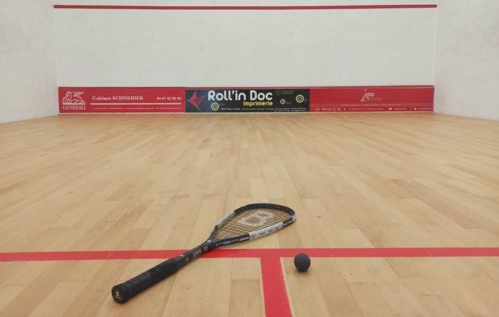 Raquette squash, balle 2 points jaunes