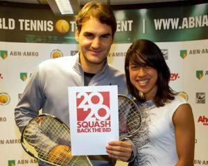 Roger Federer et squash