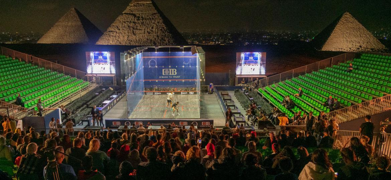 Squash et pyramides de Gizeh
