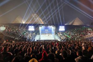 Squash, jeux de lumières et pyramides de Gizeh