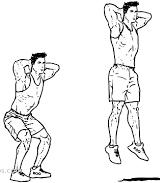 Dessin squat jump